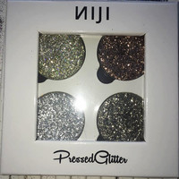 Pressed Glitter - Quad Palette #2 (Sand, Mocha, Silver and Gunmetal)