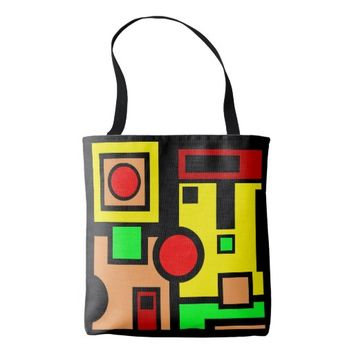 Designer All-Over-Print Tote Bag