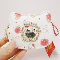 Hello Kitty Feminine Cute Leather Change Purse