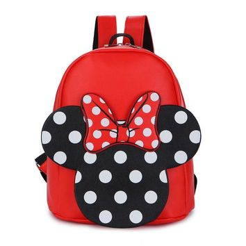 School Backpack 3-6 Years Girls Kindergarten Children Schoolbag Princess Bow PU Cartoon Backpack Baby Girl School Bag Kids Satchel Baby Backpack AT_48_3
