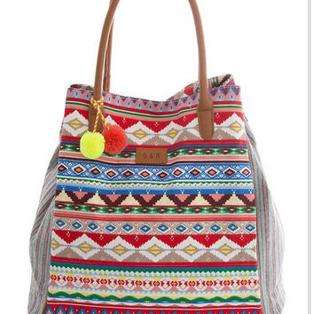 Cute Bag Ethnic Bag Weekender Bag Large Shoulder Bag Hispter - By PiYOYO