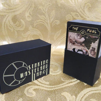 Sinking Wasteland Tarot Deck with Custom Card Box