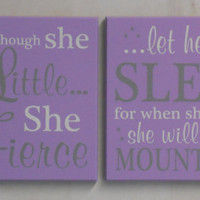 Large Purple Wall Art Sign, New Parents Gift, Wooden Signs, Painted Gray and Light Purple