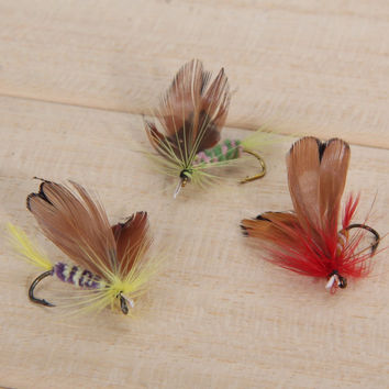 12pcs/Lot Various Dry Fly Trout & Salmon Dry Flies Fishing Lure Set Insect Style