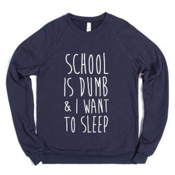 Everybody Sucks-Unisex Navy Sweatshirt