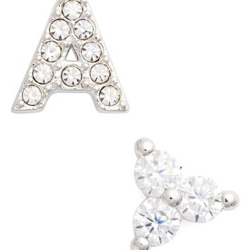 Nadri Initial Mismatched Stud Earrings | Nordstrom