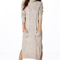 Molly Cable Knit Maxi Dress