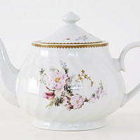 Timeless Rose Porcelain Discount Teapot