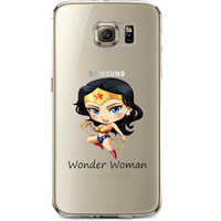 Wonder Woman Jelly Clear Case for Samsung Galaxy S7