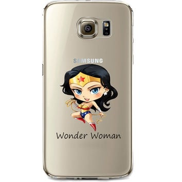 Wonder Woman Jelly Clear Case for Samsung Galaxy S7 Edge