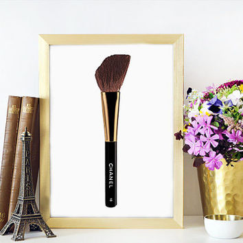 MAKEUP PRINT Brush Art Print,Beauty Room Wall Decor,Beauty Room Art,Brush Art,Brushes Art,Makeup Brushes Printable,Makeup Printable