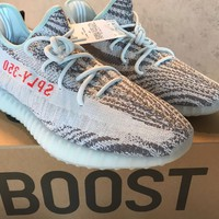 Yeezy 350 Boost V2 Blue Tint Size 13 BRAND NEW NEVER USED