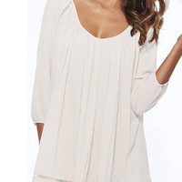 White Poncho Cover Up Blouse
