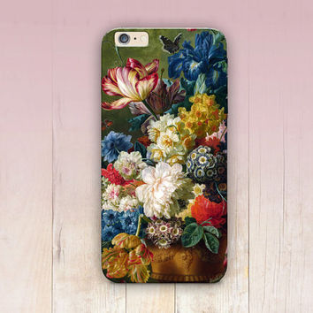 Vintage Floral Phone Case For - iPhone 6 Case - iPhone 5 Case - iPhone 4 Case - Samsung S4 Case - iPhone 5C - Tough Case - Matte Case