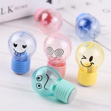 12PCS Cute bulbo Emoji Party Pencil sharpener kids happy birthday party favor baby shower souvenir baptism gift girl boy