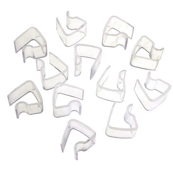 Clear Plastic Table Cover Skirt Clips, 3/4-Inch, 12-Piece
