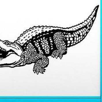 Wall Sticker Vinyl Decal Crocodile Alligator Predator Animal Cool Decor Unique Gift (z2482)