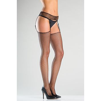 Fishnet Garter Belt & Thigh Highs Set
