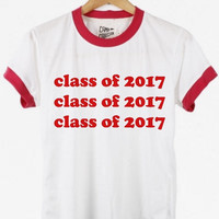 PREORDER: Class of 2017 Red Ringer Tee