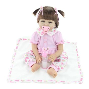 Silicone Baby Dolls 22 Inches 55CM vinyl real lovely baby gift