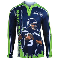 Seattle Seahawks Wilson R. #3  Official NFL Polyester Player Hoody Tee