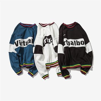 2017 New Fashion Palace Hoodie Letter Printing Harajuku Men Pullover Hoodies Crewneck Long Sleeve Hoody Clothing Plus Size M-5XL