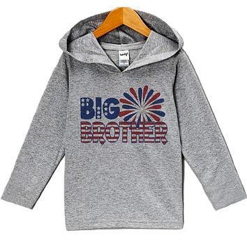 Custom Party Shop Baby Boy's Big Brother 4th of July Hoodie Pullover