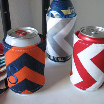 Chevron Can Koozie Can cozy Beer Coozie by OohBabyInfinity on Etsy