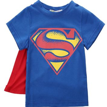 2017 Baby Boys T Shirt Superman Batman T Shirt Kids 3D Cartoon Short Sleeves Children T-Shirt Nova Boys Clothes