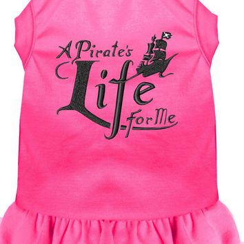 A Pirate's Life Embroidered Dog Dress Bright Pink Xxl (18)