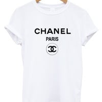 Chanel t shirt tee shirt rihanna tour comme hype ysl geek tee celine paris