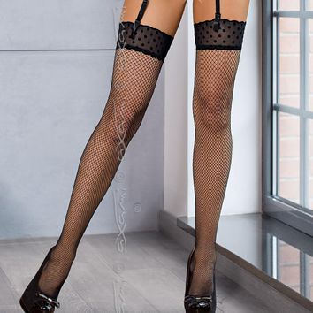 Top Lace Fishnet Stockings Axami New York