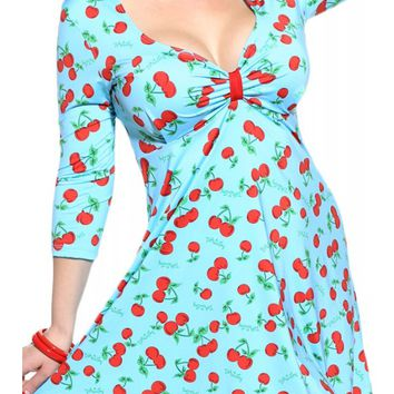 ecac1f4c0c Demi Loon Women's Sugarcake Pinup Swing Dress - Aqua