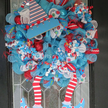 Christmas wreath, Holiday wreath, Elf Wreath, Christmas Decoration, Wreath for Door, Large Wreaths, Double Door Wreaths Available
