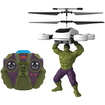 World Tech Toys 2-channel Marvel Ir Helicopter With Action Phrases (the Hulk)