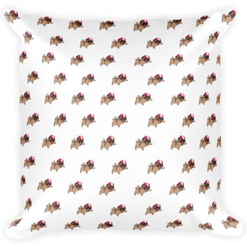 Pug All-Over Pillow | Funny Skydiving Dog Cushion | The Jazzy Panda