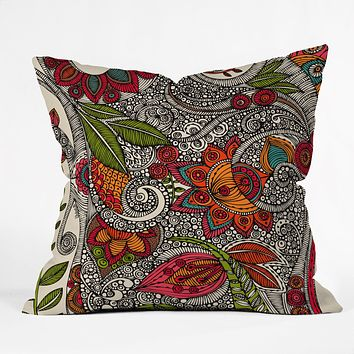 Valentina Ramos Random Flowers Throw Pillow