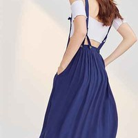 Kimchi Blue Annie Overall Midi Dress - Urban Outfitters