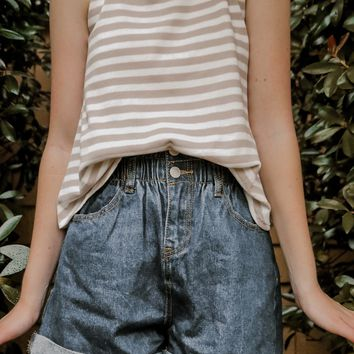Cropped Chic Striped Tank