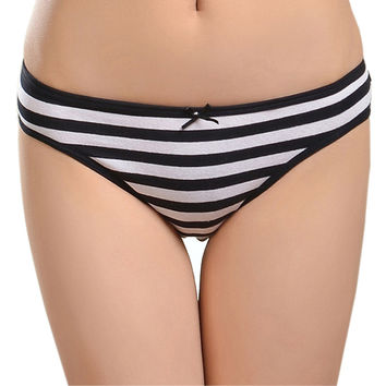 86861 Free Shipping 2016 New Cotton Women Striped Panties