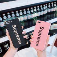 Cool Supreme Print Mirror Cover Case For Iphone 7 7plus & 6 6s Plus + Gift Box