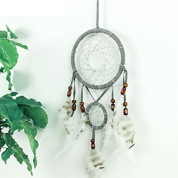 Handmade Dream Catcher Net With Feathers Wall Hanging Art Decoration Ornament