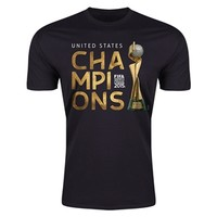 USA 2015 FIFA Women's World Cup Champions Men's Fashion T-Shirt (Black) - WorldSoccerShop.com