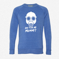 Dr. Who Are you my Mummy_Rectangle fleece crewneck sweatshirt