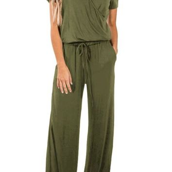Jasper Short Sleeve Casual Lunch Date Jumpsuit