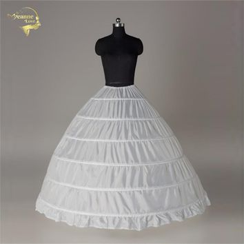 Underskirt Slip Wedding Accessories Chemise 6 Six Hoops For A Line Wedding Dress Wide Big Petticoat Crinoline  016