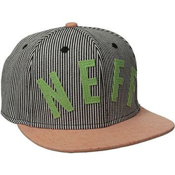 neff Men's Arc Snapback Hat Brother II, Stripe, One Size