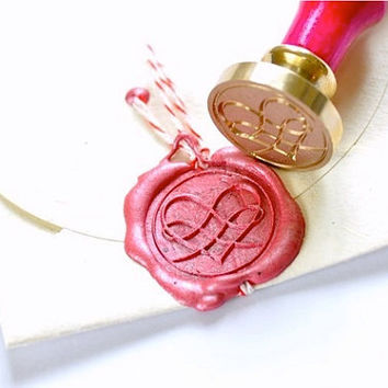 Heart Gold Plated Wax Seal Stamp x 1
