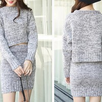 HOT TWO PIECE SWEATER DRESS  HIGH QUALITY