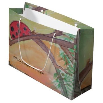 all things bright and beautiful large gift bag